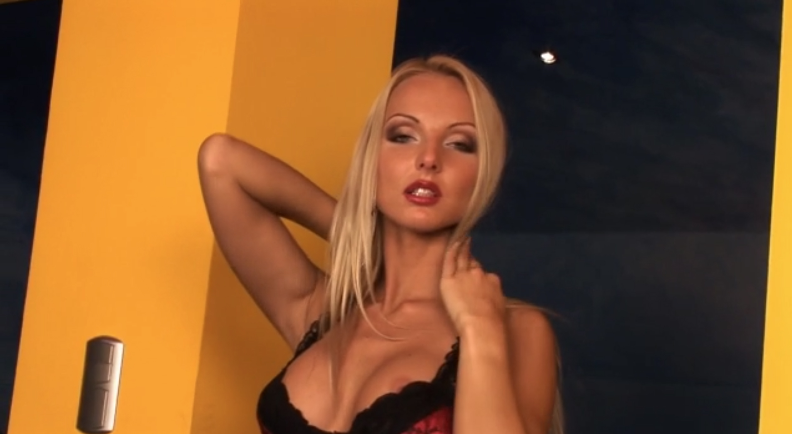 Sexy young blonde fingering herself — 3