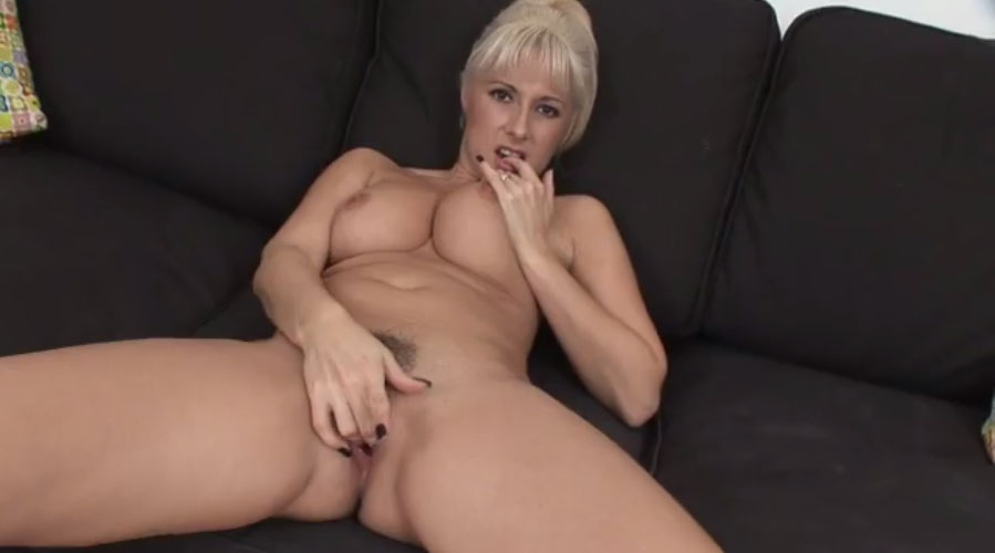 Hot blonde milf loves cock